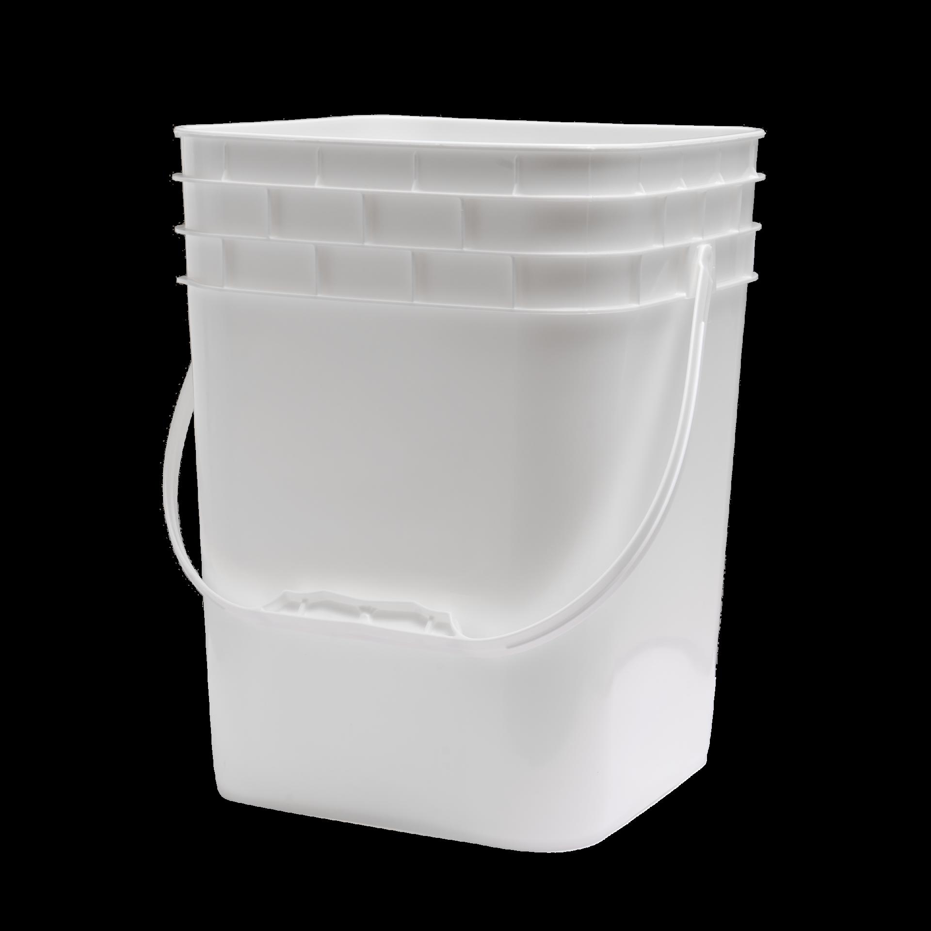4 Gallon Pail Square White plastic handle